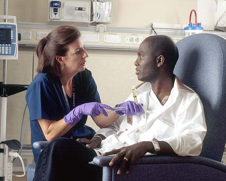 The majority of people diagnosed with cancer are still first treated with chemotherapy. [National Cancer Institute]