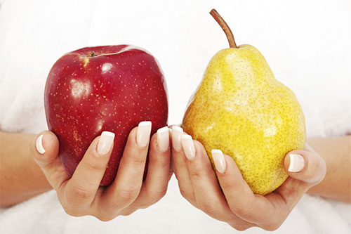 Apple-shaped bodies can lead to heart disease, and that reducing your waist size can reduce your risks. [Elev8]
