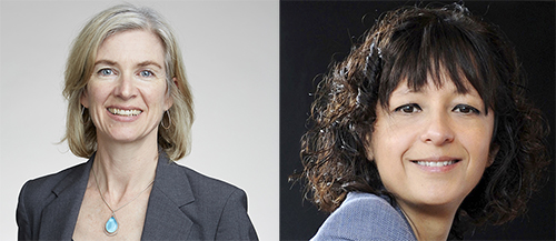 2017 Japan Prize winners Jennifer Doudna, Ph.D., (left) and Emmanuelle Charpentier, Ph.D., (right). [WikiCommons]