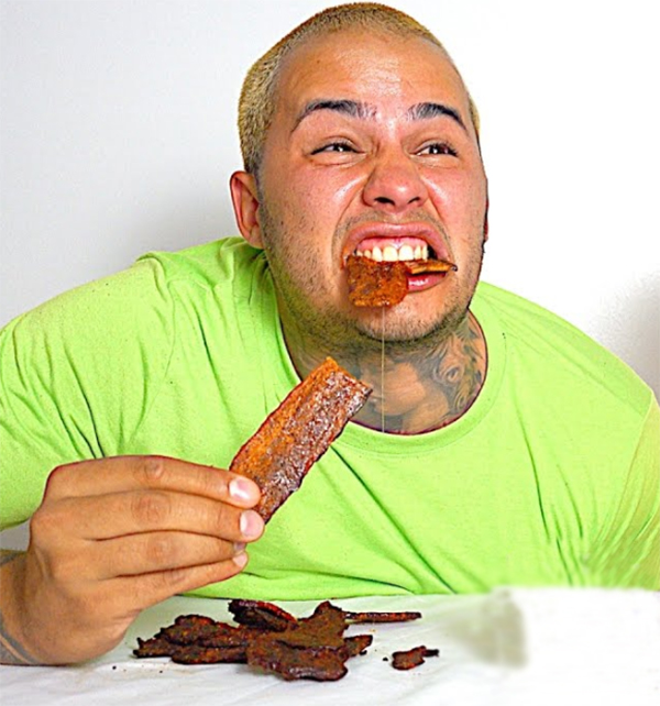 Study found that people hospitalized for an episode of mania had more than three times the odds of having ever eaten nitrate-cured meats. [DerekDesoDaily]