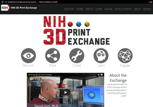 The new website aims to promote the health and science applications of 3D printing.