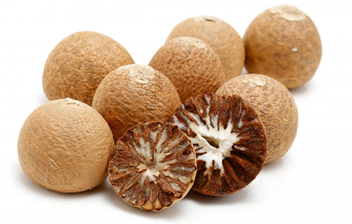 Areca nuts, also called betel nuts, contain a stimulant compound called arecoline, which has been found to have anticancer properties. [NIH]