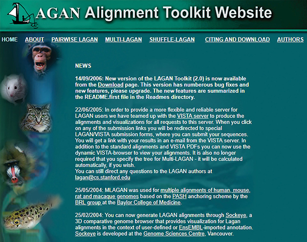 LAGAN Alignment Toolkit Website | Best of The Web