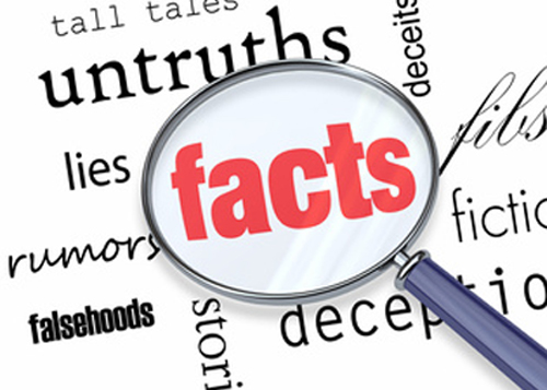 Facts Deceit Magnifying Glass