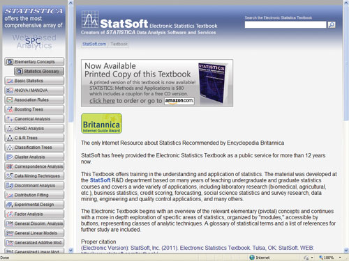 StatSoft Electronic Statistics Textbook | Best of The Web