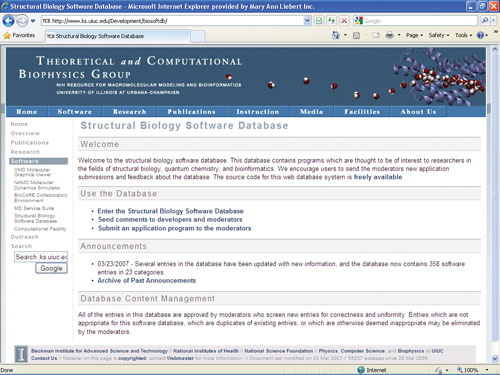 Structural Biology Software Database | Best of The Web