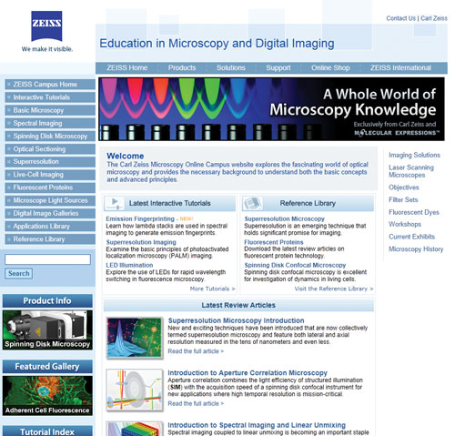 Carl Zeiss Microscopy Online Campus | Best of The Web