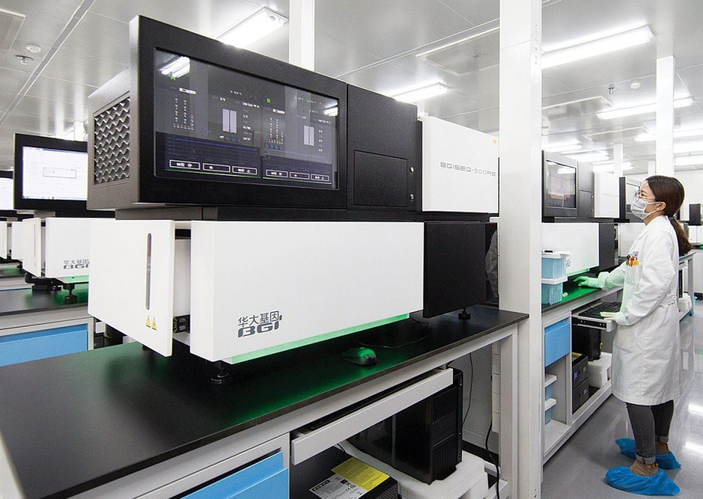 BGI's DNA sequencing platforms