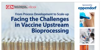 From Process Development to Scale-up… Facing the Challenges in Vaccine Upstream Bioprocessing eBook Cover