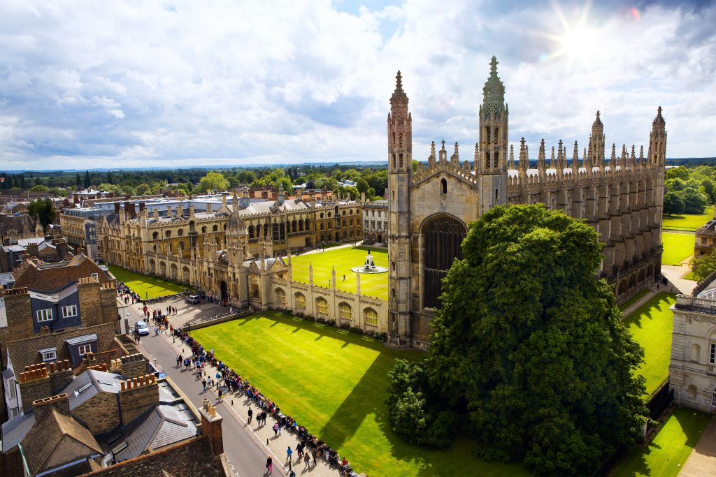 A view of Cambridge University and King's College Chapel