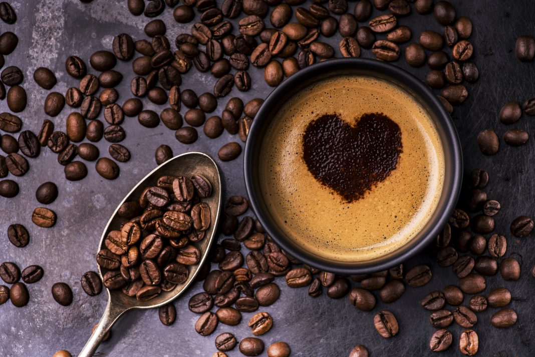 espresso with heart