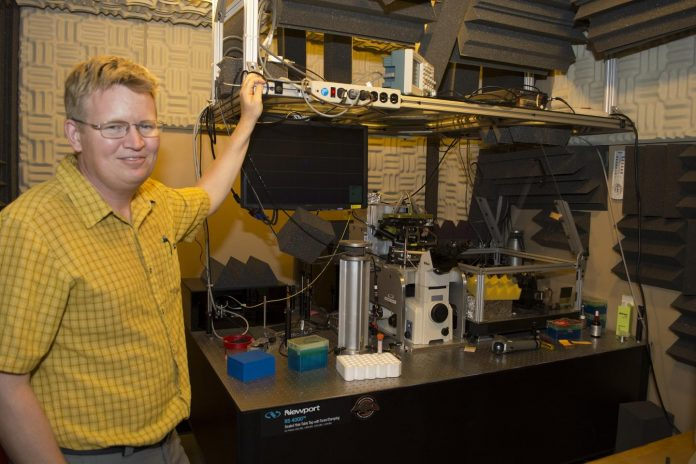 Gavin King at University of Missouri lab