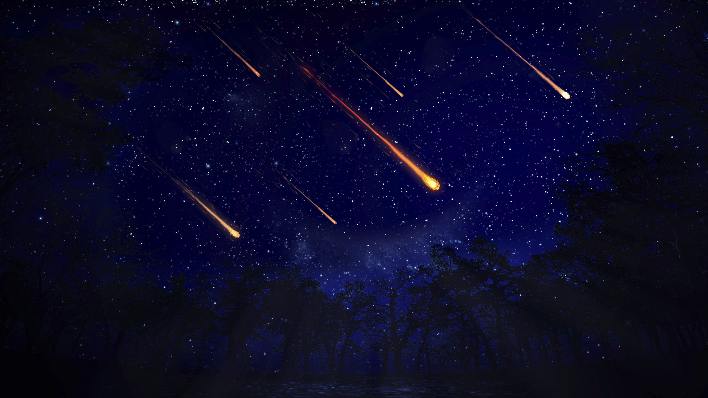 Image result for shooting star in space