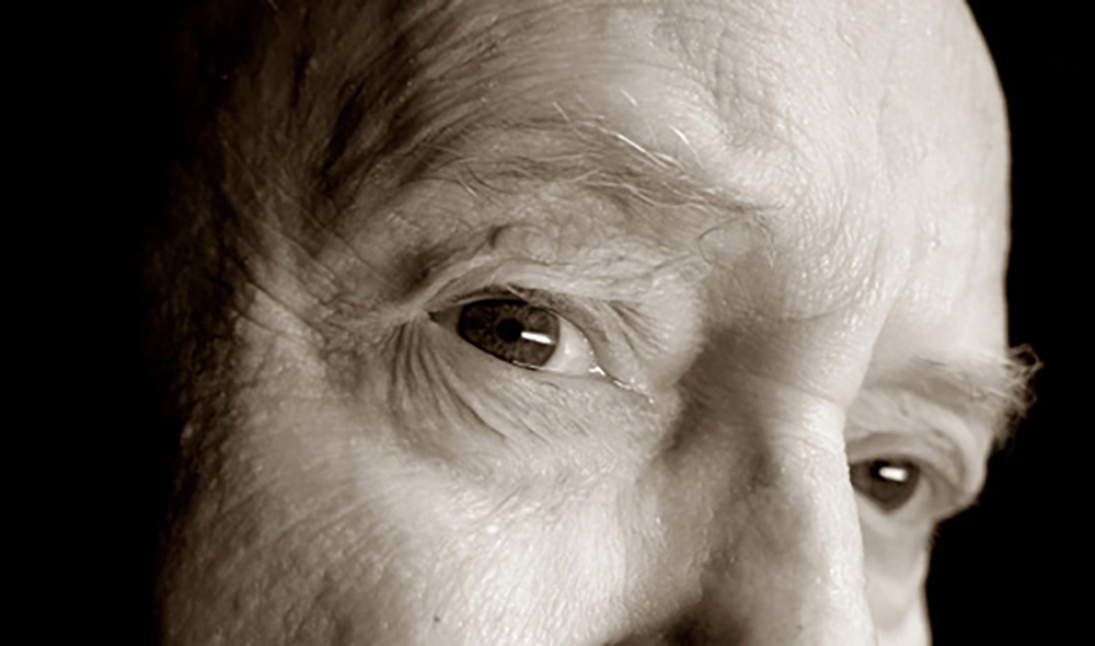 Elderly man's eyes