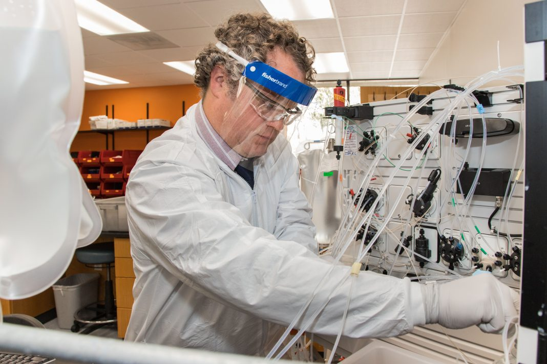 Thermo Fisher bioprocessing lab