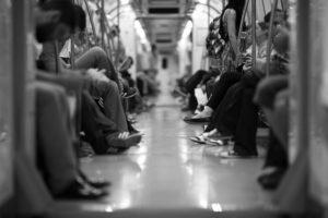 people on the subway