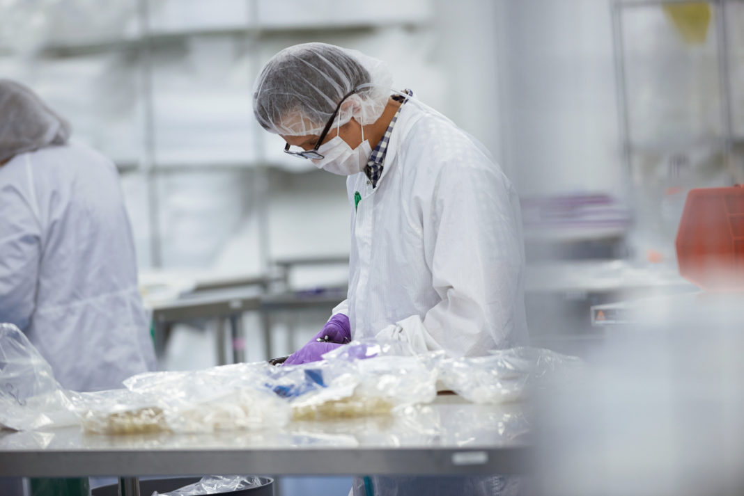 Production in a cleanroom
