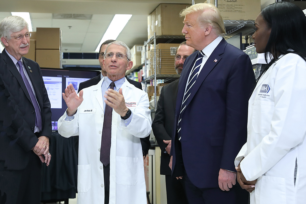 Fauci, Collins, Trump at the NIH