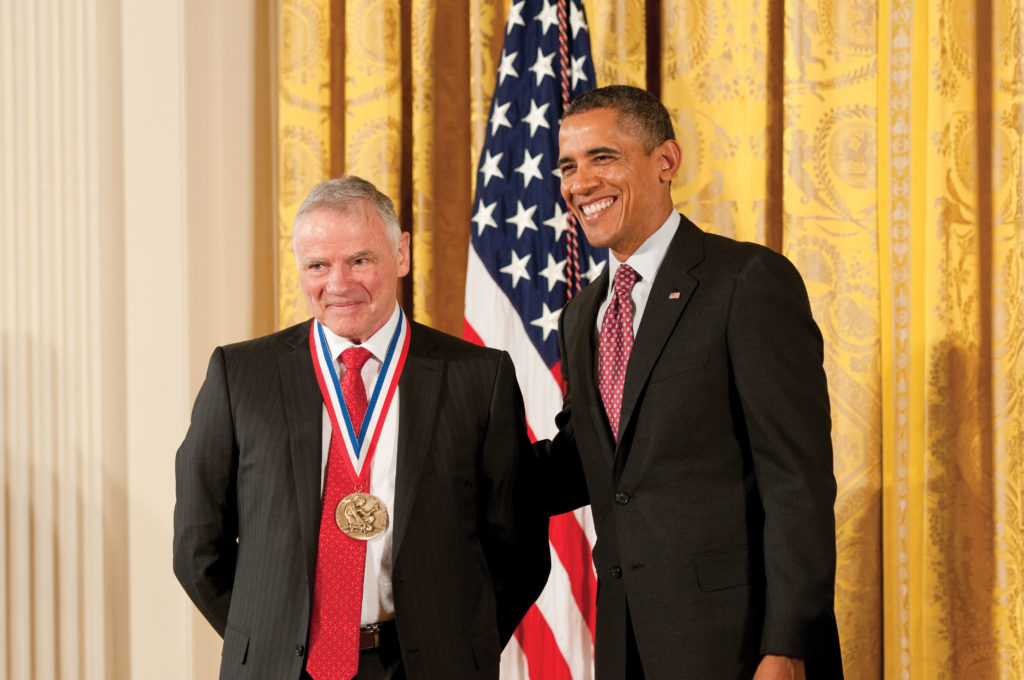 Leroy Hood receiving the 2011 National Medal of Science