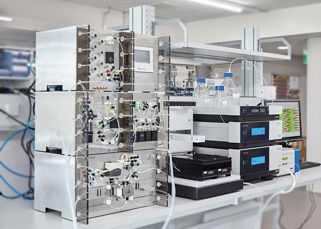 Numera®, autosampler, and HPLC at work