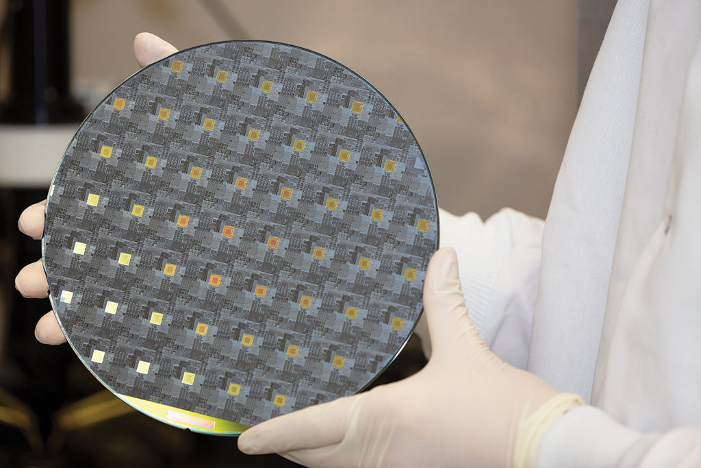 Roswell's integrated CMOS chip wafer