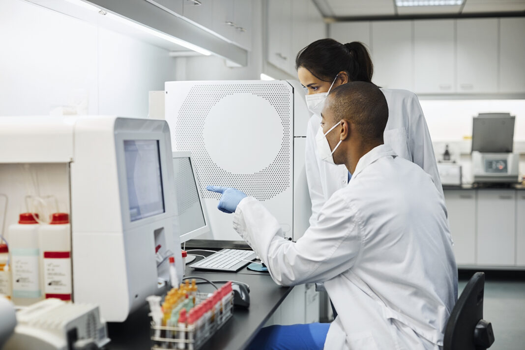 Doctors working in laboratory during COVID-19