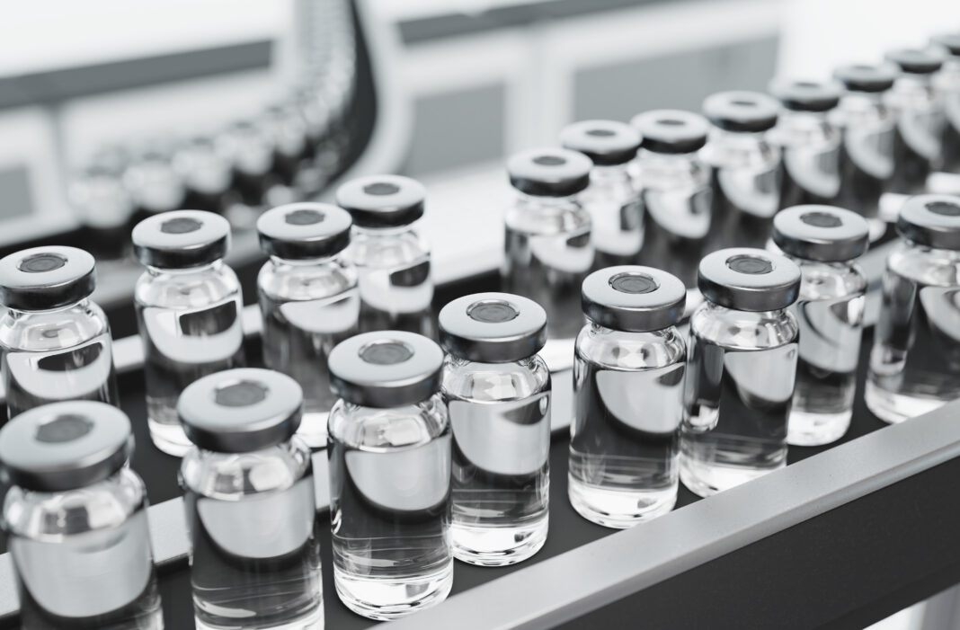 Vaccine production in a pharmaceutical factory